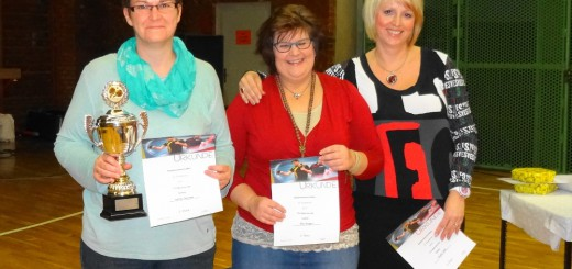 Damen: Andrea Baumann, Alke Weigelt und Claudia Hahn
